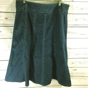 Liz Claiborne 100% Cotton Denim Skirt ~ NWOT